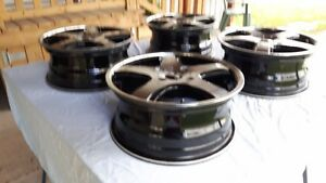 4 SPORT TUNING T5 WHEELS MACHINED w/ BLACK ACCENT