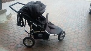Tike Tech City X3 Swivel DOUBLE STROLLER