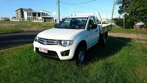 2009 Mitsubishi Triton MN MY10 GLX White 5 Speed Manual Cab Chassis Maryborough Fraser Coast Preview