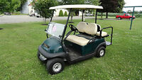 CLUB CAR PRECEDENT GOLF CARTS W/REAR FLIP SEATS & LIGHTS!!