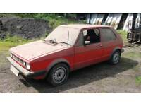 WANTED MK1 GOLF GTI DX 1.1 CADDY BARN FIND TOP PRICES PAID AND WILL COLLECT THE SAME DAY