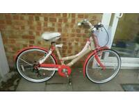Brand new Dutch style city bike beautiful coral pink colour