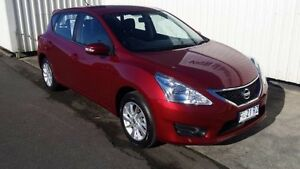 2016 Nissan Pulsar C12 Series 2 ST-L Red Continuous Variable Hatchback South Burnie Burnie Area Preview