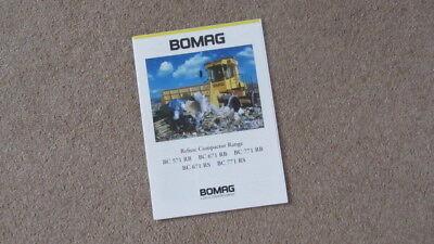 BOMAG REFUSE COMPACTOR RANG BC 571 RB - BC 771 RS ( 5 MODELS) BROCHURE