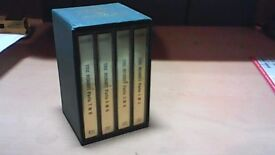 THE HOBBIT BY J.R.R.TOLKIEN--BBC 4 CASSETTE TAPE AUDIO BOOK BOX SET
