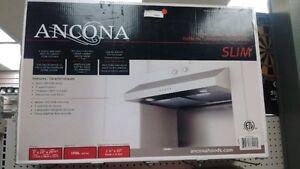 Ancona Under Cabinet Range Hood Slim New In Factory Sealed Box