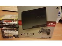 PS3-Sony PlayStation 3 (320gb) with 14 games and Blu-ray movie and many extras for a genuine bargain