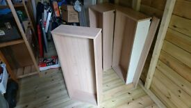 Four drawer boxes (drawer insides)