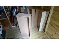 Four drawer boxes (drawer insides)