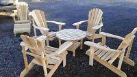 chaise adirondack en cedre