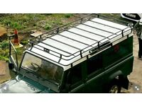 land rover defender 110 full brand new roof rack never used powder coated black