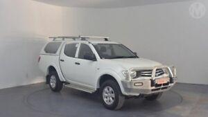 2014 Mitsubishi Triton MN MY14 Update GLX (4x4) White 4 Speed Automatic 4x4 Double Cab Utility Perth Airport Belmont Area Preview