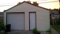 Garage for storage available : huge 18' X 20', cement floor, ins