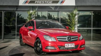 2012 Mercedes-Benz C250 W204 MY12 Sport BE Red 7 Speed Automatic G-Tronic Coupe Bowen Hills Brisbane North East Preview