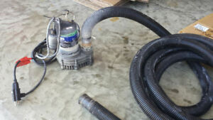 Keep a spare sump pump with 25ft discharge