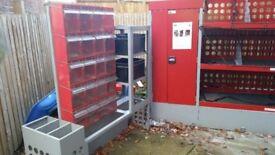 Multistore plastic boxes van racking for sale