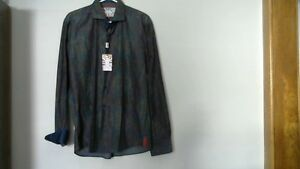 Mans 7 Downie Street London Designer Long Sleeve Shirt [new]