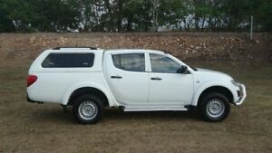2013 Mitsubishi Triton MN MY14 GLX Double Cab White 5 Speed Manual Utility