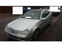 mercedes c class w203 coupe breaking for spares and repairs c180 black top