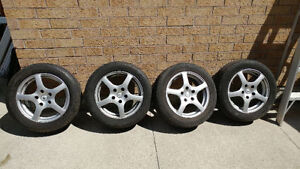"""16 """" Rims with tires fit many cars"""
