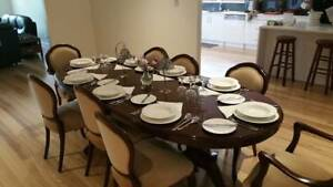Dining Suite - Solid Mahogany 8 Seater - Dining Table and Chairs