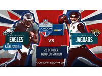 2 tickets Philadelphia Eagles v Jacksonville Jaguars NFL London 2018 at Wembley in October