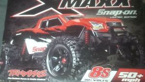 NEW RED traxxas snap on edition xmaxx x-maxx rc truck new