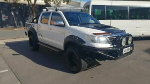 2014 Toyota Hilux KUN26R MY12 SR5 (4x4) White 5 Speed Manual Dual Cab Pick-up Melrose Park Mitcham Area Preview