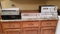 Audio gear for sale receivers, Turntables speakers, etc