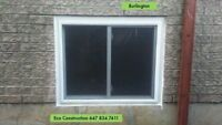 BASEMENT CUSTOM SIZE EGRESS WINDOWS INSTALLATION-39 YEARS EXP