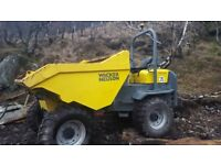 WACKER NEUSON 9T FORWARD TIPPING DUMPER, IN VERY GOOD CONDITION