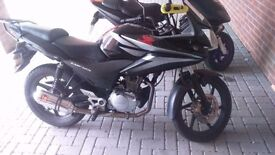 Honda cbf 125cc w performance exhaust