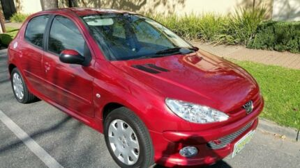 2005 Peugeot 206 C Red 5 Speed Manual Hatchback Nailsworth Prospect Area Preview