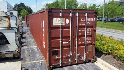 40 40 Foot Storage Container Unit  Shipping Container Moving Lift Works