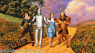 Cowardly Lion In Wizard Of Oz (WIZARD OF OZ MOVIE POSTER 36x24 in. Dorothy Scarecrow Tin Man and Cowardly)