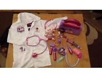 Dr McStuffin coat, bag and toy bundle