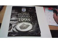 THE OFFICIAL ENGLAND SQUAD COLLECTION MEDAL COLLECTION 1998 COMPLETE