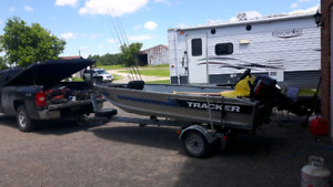 14 ft aluminum tracker Fishing boat package