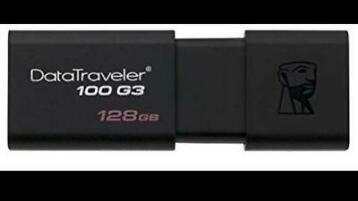 Kingston data treveler 3.0 128GB usb sticks origineel!