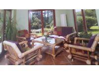 Stunning Bamboo Conservatory/Patio Furniture