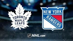TORONTO MAPLE LEAFS VS NEW YORK RANGERS LOWER BOWL