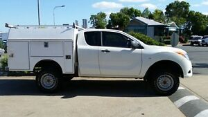 2012 Mazda BT-50 UP0YF1 XT Freestyle 4x2 Hi-Rider White 6 Speed Manual Cab Chassis Acacia Ridge Brisbane South West Preview