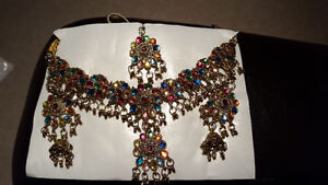 Indian Necklace Earrings and Tikka Set