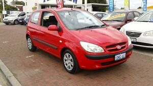 2007 Hyundai Getz TB Red 4 Speed Automatic Hatchback Victoria Park Victoria Park Area Preview