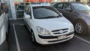 2007 Hyundai Getz TB MY06 White Manual Hatchback Lansvale Liverpool Area Preview