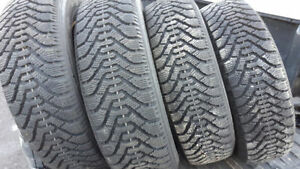 Like New Set of 4 Goodyear Nordic 205/70/15 snow/winter tires