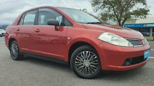 2006 Nissan Tiida C11 ST Red 6 Speed Manual Sedan Bungalow Cairns City Preview