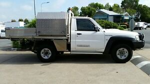 2012 Nissan Patrol Y61 GU 6 SII MY13 DX White 5 Speed Manual Cab Chassis Acacia Ridge Brisbane South West Preview