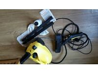 Karcher steam cleaner and window vac