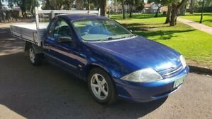 2001 Ford Falcon AUII XL (LPG) Blue 4 Speed Automatic Cab Chassis Prospect Prospect Area Preview